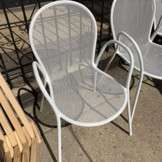 Set of 4 EMU Ronda Steel White Stacking Armchair