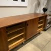 Florence Knoll Walnut Credenza With Leather Pulls
