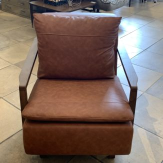 Walnut & Leather Arm Chair