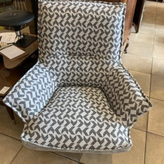 Arrow Pattern Swivel Arm Chair